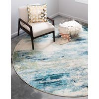 Unique Loom Avalon Chromatic Round Rug - 8' x 8'