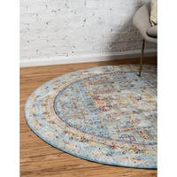 Unique Loom Tremolo Austin Round Rug - 6' x 6'