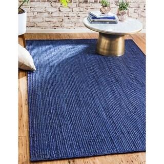 Unique Loom Delhi Braided Jute Area Rug - 8' 0 x 10' 0