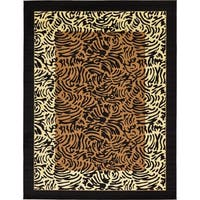 Unique Loom Big Cat Wildlife Area Rug - 9' x 12'