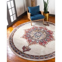 Unique Loom Helios Utopia Round Rug - 8' x 8'