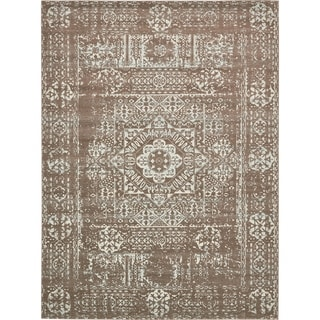 Unique Loom Maria Tradition Area Rug (Light Brown - 8 x 10)