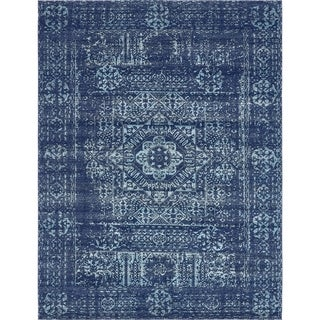 Unique Loom Maria Tradition Area Rug (Navy Blue - 27 x 10 Runner)