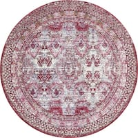Unique Loom Woodwind Austin Round Rug - 8' x 8'