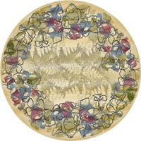 Unique Loom Pansy Outdoor Round Rug - 8' X 8' Round