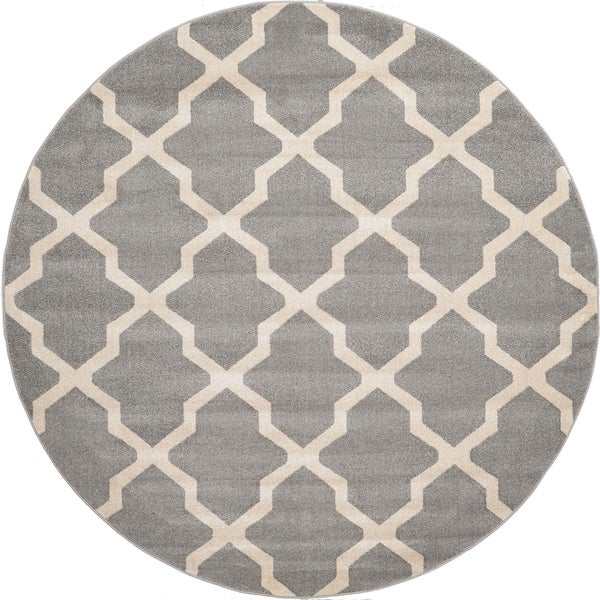 Shop Unique Loom San Antonio Trellis Round Rug 8 X 8