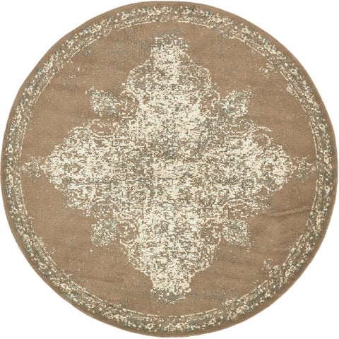 Unique Loom Medallion Tuareg Round Rug - 8' x 8'
