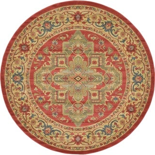 Unique Loom Arsaces Sahand Area Rug (Red - 8 x 8 Round)