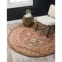 Unique Loom Larkspur Edinburgh Round Rug - 8' x 8'