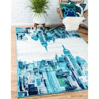 Unique Loom Metro Skyline Area Rug - 9' x 12'