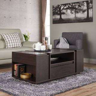 Furniture of America Corma Contemporary Espresso Multi-Storage Coffee Table
