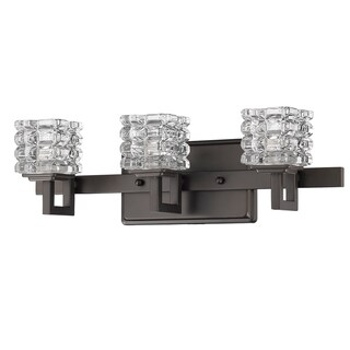 Acclaim Lighting Coralie Indoor 3-Light Bath With Crystal Glass Shades In Oil Rubbed Bronze