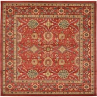 Unique Loom Larkspur Heritage Square Rug - 8' 0 x 8' 0