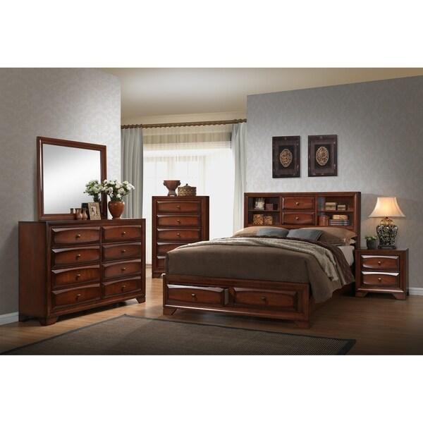 Home Source Bedroom Furniture King Bed/Dresser/Mirror/Nightstand