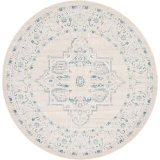 Unique Loom Attiki New Classical Area Rug (Gray - 8 x 8 Round)
