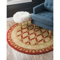 Unique Loom Zinnia Edinburgh Round Rug - 8' x 8'
