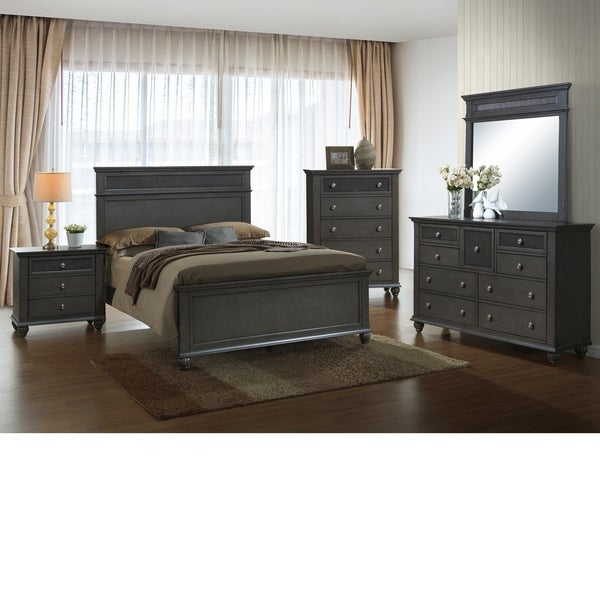 Home Source Bedroom Furniture Queen Bed Dresser Mirror Nightstand Chest Free Shipping Today 18082441