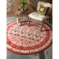 Unique Loom Carnation Edinburgh Round Rug - 8' x 8'
