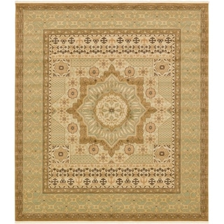Palace Red Southwestern Floral Square Rug (10' x 11' 4)