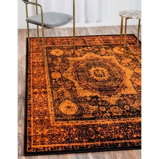 Istanbul Blue/Black Floral Area Rug (13' x 19'8)