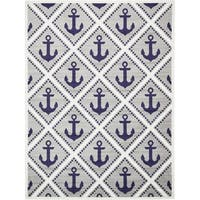 Unique Loom Metro Anchor Area Rug - 9' x 12'