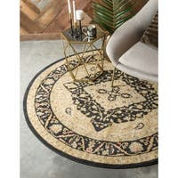 Unique Loom Rosey Edinburgh Round Rug - 8' x 8'