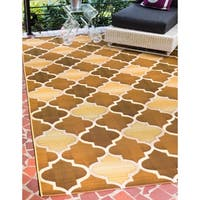 Unique Loom Trellis Outdoor Area Rug - 8' X 11' 4