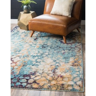 Arte Blue/Brown Abstract Area Rug (9' x 12')