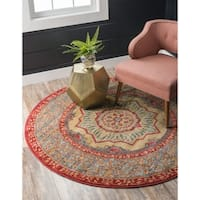 Unique Loom Quincy Palace Round Rug - 8' x 8'