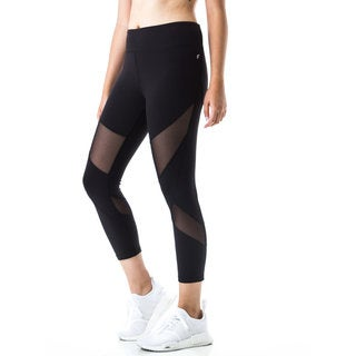 Figur Activ Women's Mesh Sport Capri Yoga Running Legging (More options available)