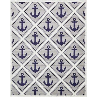 Unique Loom Metro Anchor Area Rug - 8' x 10'