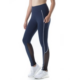 Figur Activ Women's Track Line Performance Legging Tights with Mesh & Pocket (More options available)