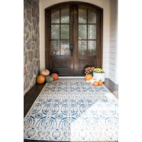 Unique Loom Mirrored Outdoor Area Rug - 8' X 11' 4