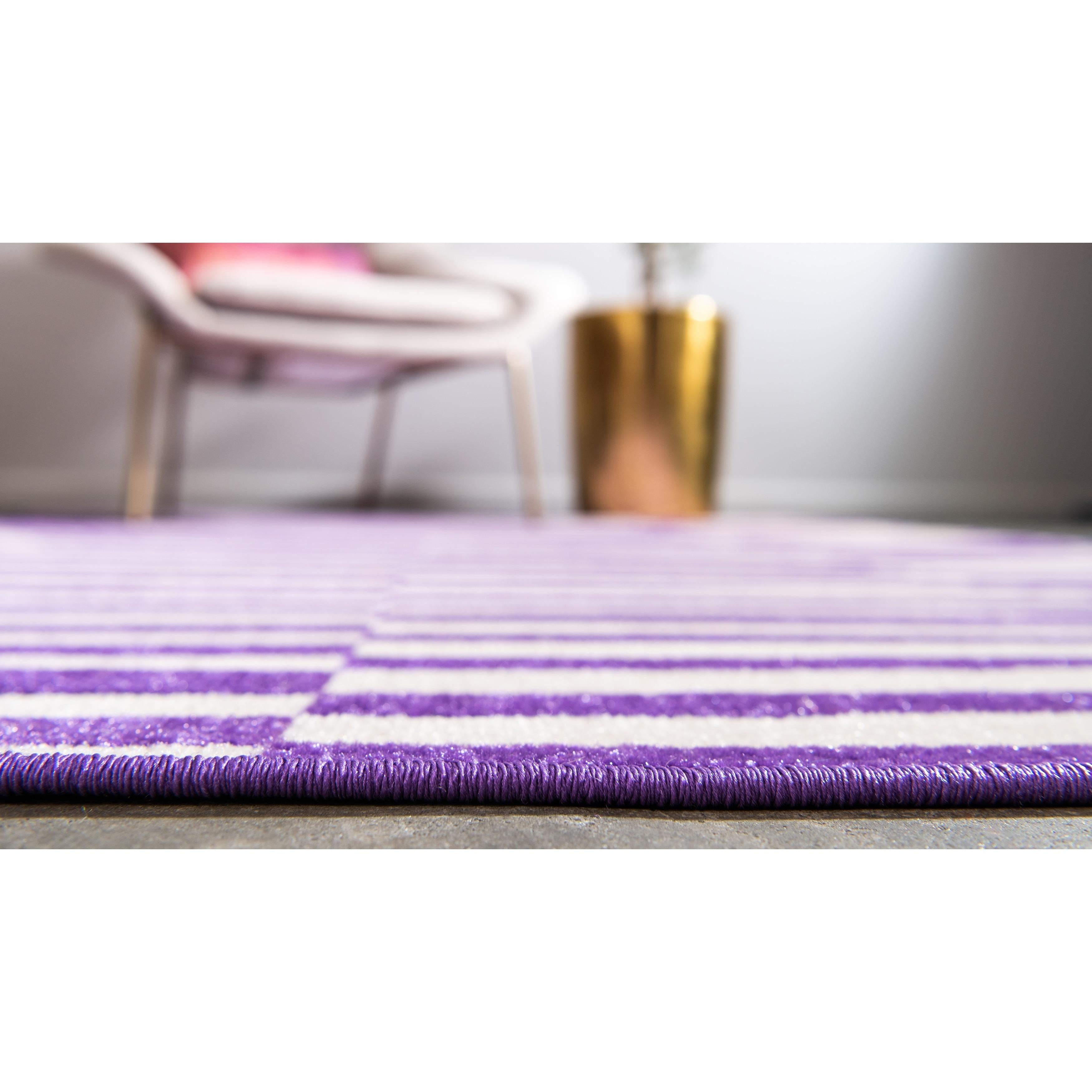 Purple Stripe Area Rugs Online At Com Our Best Deals
