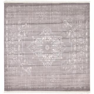 Unique Loom Attiki New Classical Area Rug (Gray - 8 x 8 Square)