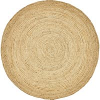 Unique Loom Goa Braided Jute Round Rug - 8' Round