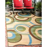 Unique Loom Babbling Outdoor Area Rug - 10' x 12'