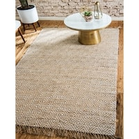 Unique Loom Assam Braided Jute Area Rug - 9' x 12'