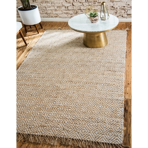 Unique Loom Assam Braided Jute Area Rug