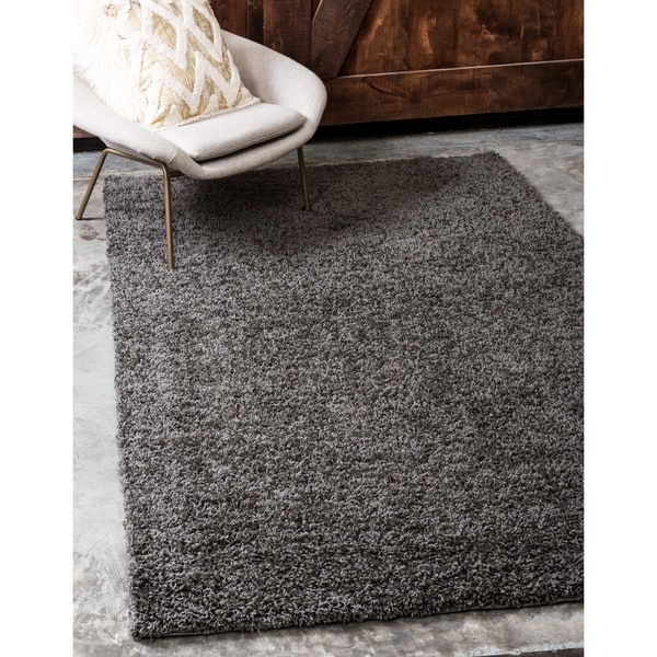 shop unique loom solid shag area rug 12 39 x 15 39 10 on sale free shipping today overstock. Black Bedroom Furniture Sets. Home Design Ideas