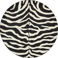 Unique Loom Okapi Wildlife Round Rug - 8' x 8'