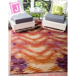 Unique Loom Outdoor Aztec Area Rug