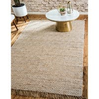 Unique Loom Assam Braided Jute Area Rug - 8' 0 x 10' 0