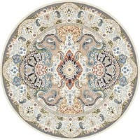 Unique Loom Glasgow Nain Design Round Rug - 10' x 10'