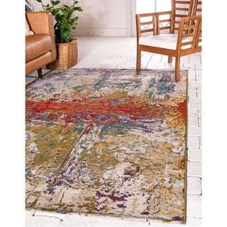 Unique Loom Crumpled Eden Outdoor Area Rug - 10' x 12'