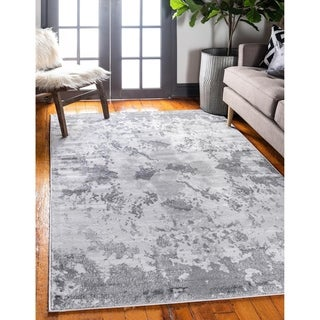 Metro Light Grey/Cream Abstract Area Rug