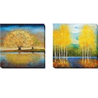 Season of Reflection and Inlet Grove by Melissa Graves-Brown 2-piece Gallery-Wrapped Canvas Giclee Art Set