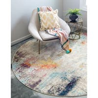 Unique Loom Tybee Chromatic Round Rug - 8' x 8'