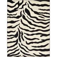 Unique Loom Zebra Wildlife Area Rug - 9' x 12'