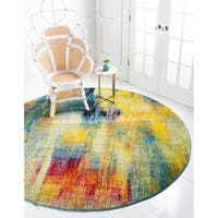 Unique Loom Amber Lyon Round Rug - Multi - 8' x 8'